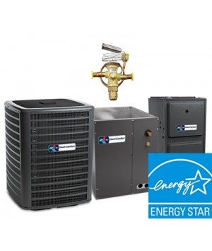 Direct Comfort 2.0 Ton 18 SEER  Two Stage System with 97% Efficient 60K BTU Natural Gas Furnace Two Stage Modulating  Upflow Energy Star