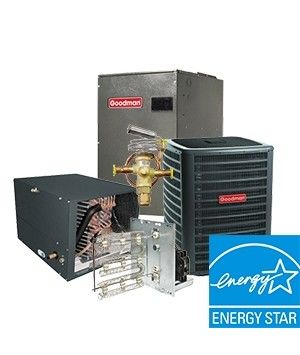Goodman 4.0 Ton Heat Pump System Two Stage 17.5 SEER with Variable Speed Blower Energy Star Horizontal
