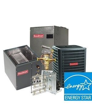 Goodman 5.0 Ton 17  SEER Two Stage Electric Heat Upflow System ENERGY STAR