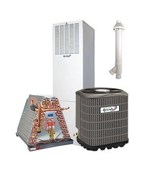 Revolv 4.0 Ton 14 SEER Gas System for Mobile Home Downflow 95% Efficient