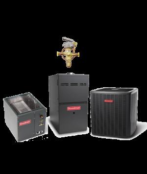 Goodman 14 SEER 5.0 Ton 100K BTU 80% Efficient One Stage Gas Downflow System