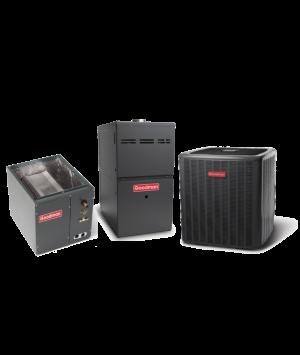 Goodman 14 SEER 3.0 Ton 80K BTU 80% Efficient One Stage Gas Upflow System