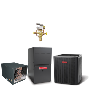 Goodman 1.5 Ton 14 SEER Heat Pump with 60K BTU 80% Efficient One Stage Gas Horizontal System
