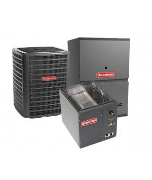 Goodman 3.5 Ton 13 SEER 80% Efficient 60,000 BTU Single Stage Gas Furnace & Air Conditioning System - Downflow