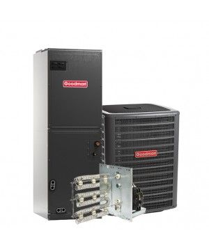 Goodman 1.5 Ton 13 SEER Air Conditioning System with Electric Heat