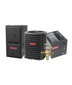 Goodman 3.0 Ton 14 SEER 80K BTU 96% Two Stage Natural Gas System with 3 Ton Blower Upflow