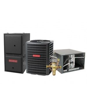 Goodman 3.5 Ton 14 SEER 100K BTU 96% Two Stage Natural Gas System Horizontal