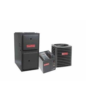 Goodman 3.0 Ton 14 SEER 80K BTU 96% Single Stage Natural Gas System Upflow (with 4 Ton Blower)