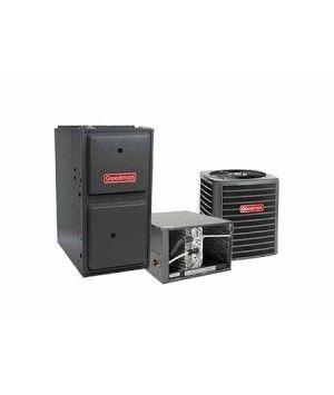 Goodman 2.5 Ton 14 SEER 80K BTU 96% Single Stage Natural Gas System Horizontal