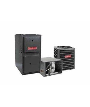 Goodman 4.0 Ton 14 SEER 120K BTU 96% Single Stage Natural Gas System Horizontal