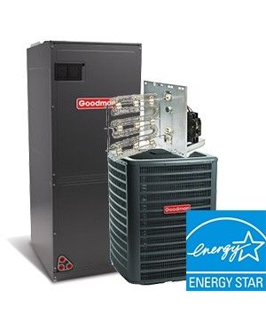 Goodman 5.0 Ton 16.5 SEER Two Stage Electric Heat System ENERGY STAR