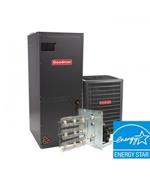 Goodman 2 Ton 16 SEER Heat Pump Two Stage System with Variable Speed Air Handler Energy Star