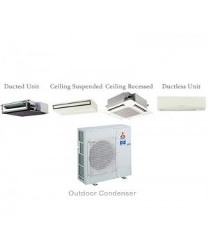 Mitsubishi P-Series 36,000 BTU Ductless Heat Pump Air Conditioner