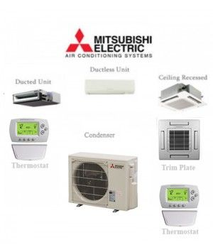 Mitsubishi P-Series 18,000 BTU Ductless Mini Split air conditioner