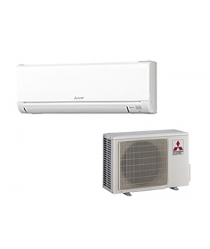 Mini Split AC Unit - Mitsubishi 12,000 BTU Ductless Cooling Only AC System - 23.5 SEER