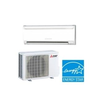 Mini Split AC Unit - Mitsubishi 15,000 BTU Ductless Cooling Only AC System - 21.6 SEER
