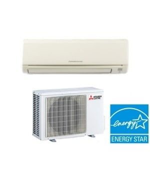 Mitsubishi 12K BTU 23.1 SEER Heat Pump Ductless Mini Split System