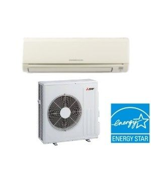 Mitsubishi 18K BTU 20.5 SEER Heat Pump Ductless Mini Split System