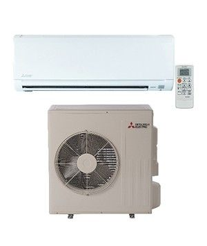 Mitsubishi 24K BTU 16 SEER Heat Pump System with Blue Fin anti-corrosion treatment