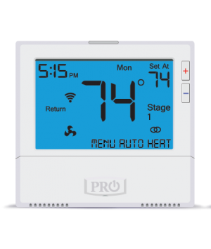 Pro1 IAQ 3 Heat 2 Cool Touchscreen Programmable Wireless Thermostat w/ Humidity