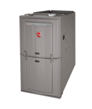 Rheem 125K BTU 80% Efficient Natural Gas Upflow/Horizontal Furnace with 5 Ton Blower