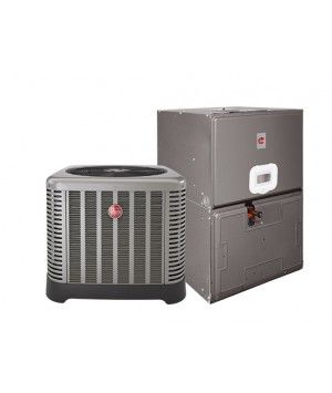 "Rheem 3.0 Ton 14 SEER Electric Heat Split System with 10KW; 35"" Air Handler"