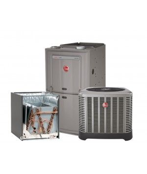 Rheem 1.5 Ton 14 SEER AC system with 80% 50K BTU Natural Gas Furnace