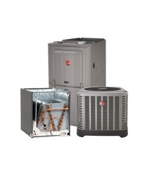 Rheem 3.0 Ton 16 SEER with 80% 75K BTU Natural Furnace Upflow/Horizontal