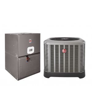 "Rheem 4.0 Ton 14 SEER Electric Heat Split System with 10 KW  ; 35"" Air Handler"