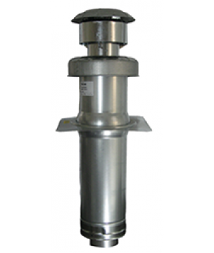 """Revolv 35"""" - 63"""" Roof Jack with 2 1/2 12 Slant Flashing For Gas Furnace - 903665A"""