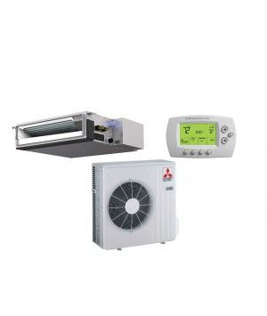 Mitsubishi 18,000 BTU Heat Pump Ductless Mini Split With Horizontal Ducted Indoor (17.5 SEER)