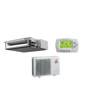 Mitsubishi 9,000 BTU Heat Pump Ductless Mini Split With Horizontal Ducted Indoor (17.5 SEER)