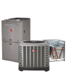 Rheem 4 Ton 14 SEER 80% Efficient 100000 BTU Natural Gas Upflow System