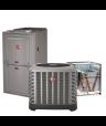 Rheem 4 Ton 14 SEER 80% Efficient 100000 BTU Natural Gas Upflow System