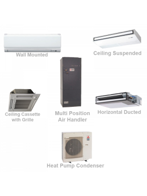 Mitsubishi Commercial Ductless Mini Split Cooling Only System