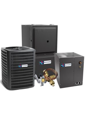 Direct Comfort 15 SEER 1.5 Ton 96% 40K BTU Two Stage Variable Speed Natural Gas System - Downflow