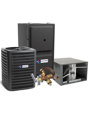 Direct Comfort 15 SEER 1.5 Ton 96% 60K BTU Two Stage Variable Speed Natural Gas System - Horizontal