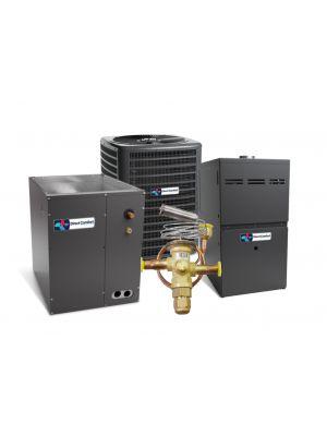 Direct Comfort 14 SEER 5.0 Ton 100K BTU 80% Efficient One Stage Gas Upflow System