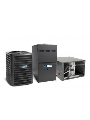 Direct Comfort 14 SEER 2.5 Ton 80K BTU 80% Efficient One Stage Gas Horizontal System