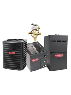 Goodman 2.5 Ton 15 SEER HYBRID HEAT PUMP DUAL FUEL with 96% 80K BTU Two Stage Variable Speed Natural Gas Furnace Upflow