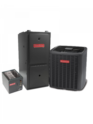 Goodman 15 SEER 1.5T 96% 40K BTU Two Stage Variable Speed Natural Gas System - Horizontal