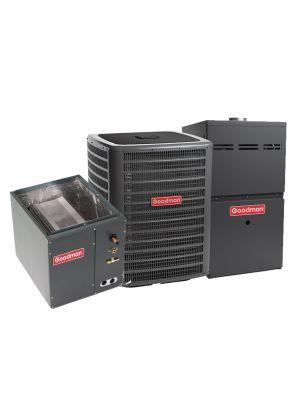 Goodman 2.0 Ton 13 SEER 80% Efficient 40,000 BTU Single Stage Gas Furnace & Air Conditioning System - Upflow