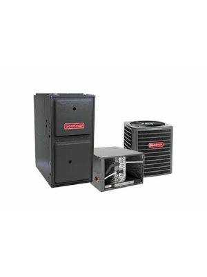 Goodman 5.0 Ton 14 SEER 120K BTU 96% Single Stage Natural Gas System Horizontal