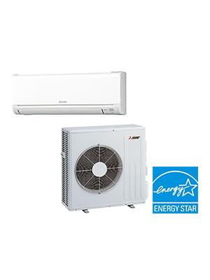 Mini Split AC Unit - Mitsubishi 24,000 BTU Ductless Cooling Only AC System - 20.5 SEER