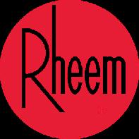 Rheem logo - 1.5 ton and 2 ton AC unit