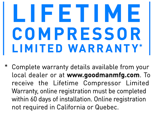 Lifetime Compressor Limited Warranty